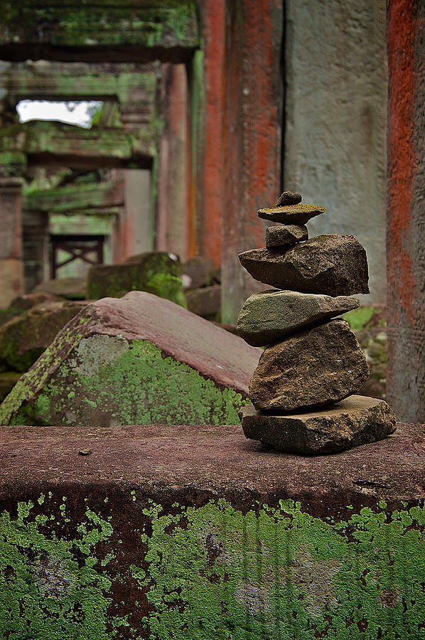 Cambodia Photograph - Ancient Rock Formation by Arj Munoz