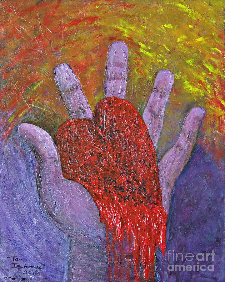 Acrylics Painting - Ancient Sacrifices  by Tammy Ishmael - Eizman