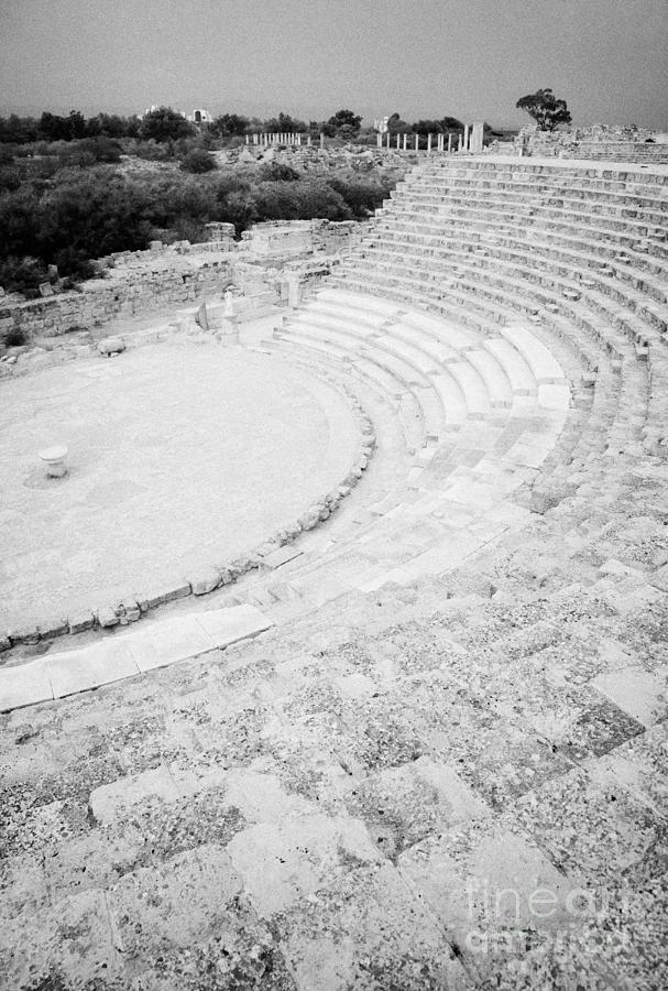 Turkish Photograph - Ancient Site Of Roman Theatre At Salamis Famagusta Turkish Republic Of Northern Cyprus Trnc by Joe Fox