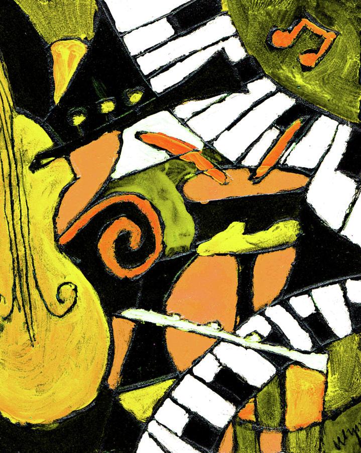Jazz Painting - And All That Jazz Orange by Wayne Potrafka