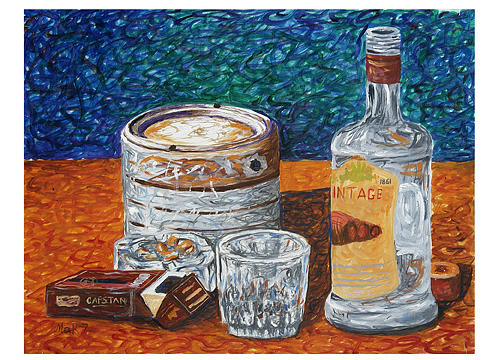 Painting - And The Bottle Has Finished by Muhammad Arshad Khan MAK