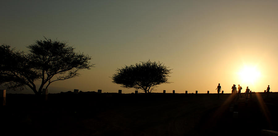 Silhouette Photograph - And The Day Ends Quietly.. by Saurabh Shenai