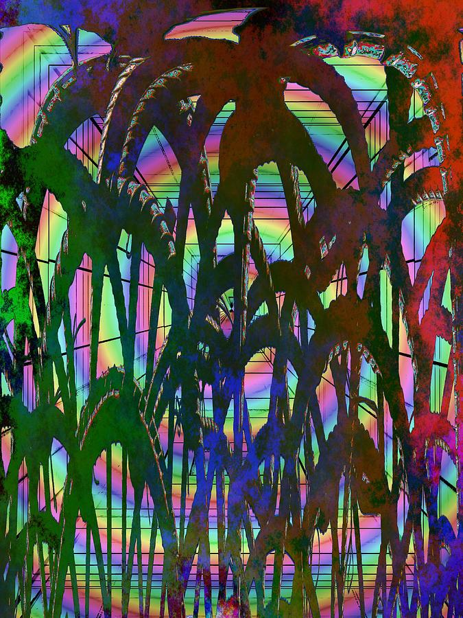 Abstract Digital Art - And They All Came Tumbling Down by Tim Allen