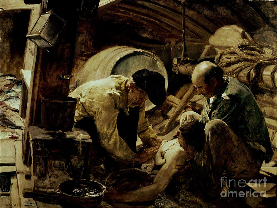 Ship Painting - And They Still Say Fish Is Expensive by Joaquin Sorolla y Bastida