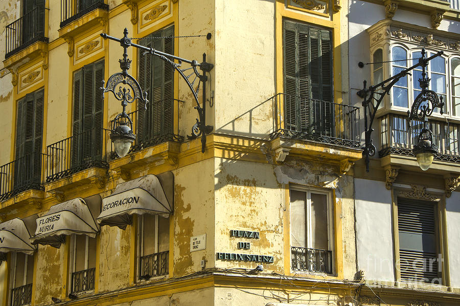 Architecture Photograph - Andalusian Spanish Facade by Perry Van Munster