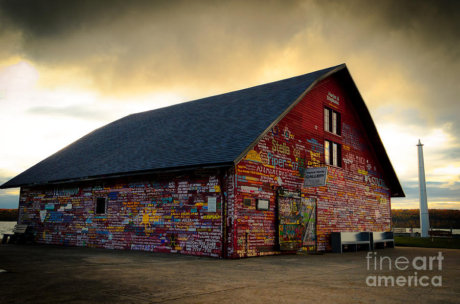 Door County Photograph - Anderson Barn At Dusk by Ever-Curious Photography