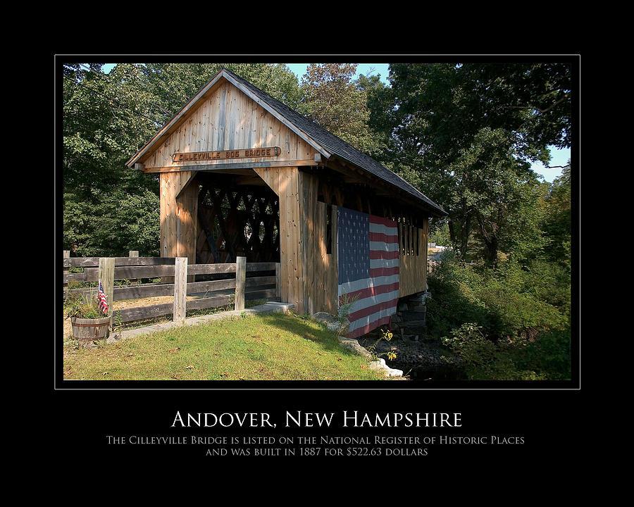 Bridge Photograph - Andover Nh Historical Bridge by Jim McDonald Photography