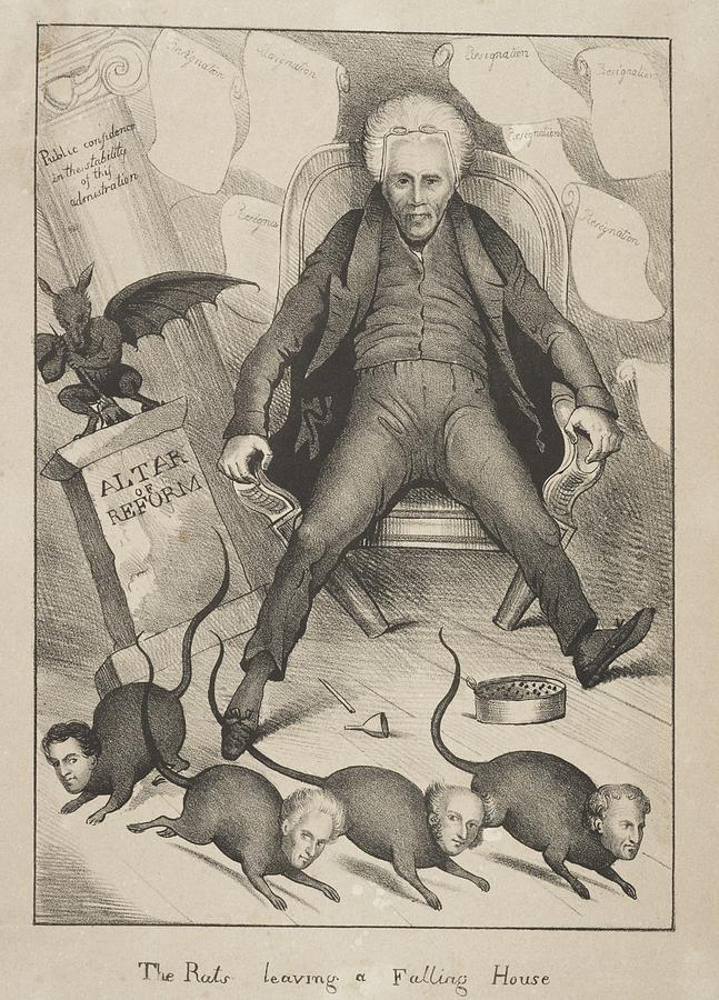 Andrew Jackson Losses His Cabinet. In Photograph by Everett