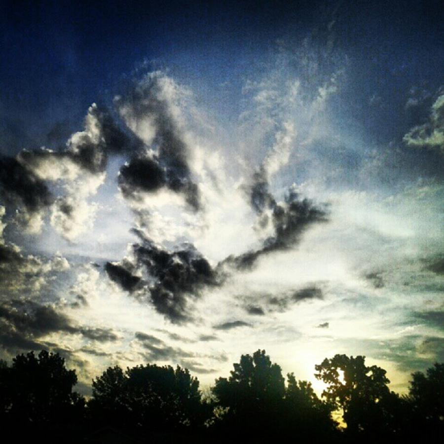Andrography Photograph - #andrography #nexuss #clouds #sky by Kel Hill
