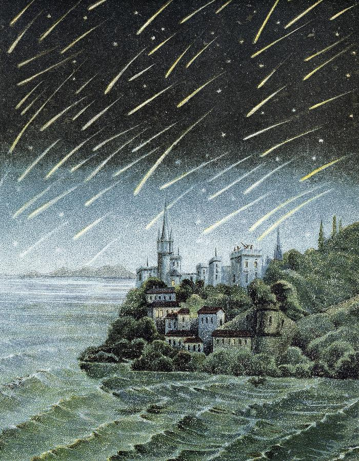 Meteors Photograph - Andromedid Meteor Shower by Science, Industry & Business Librarynew York Public Library