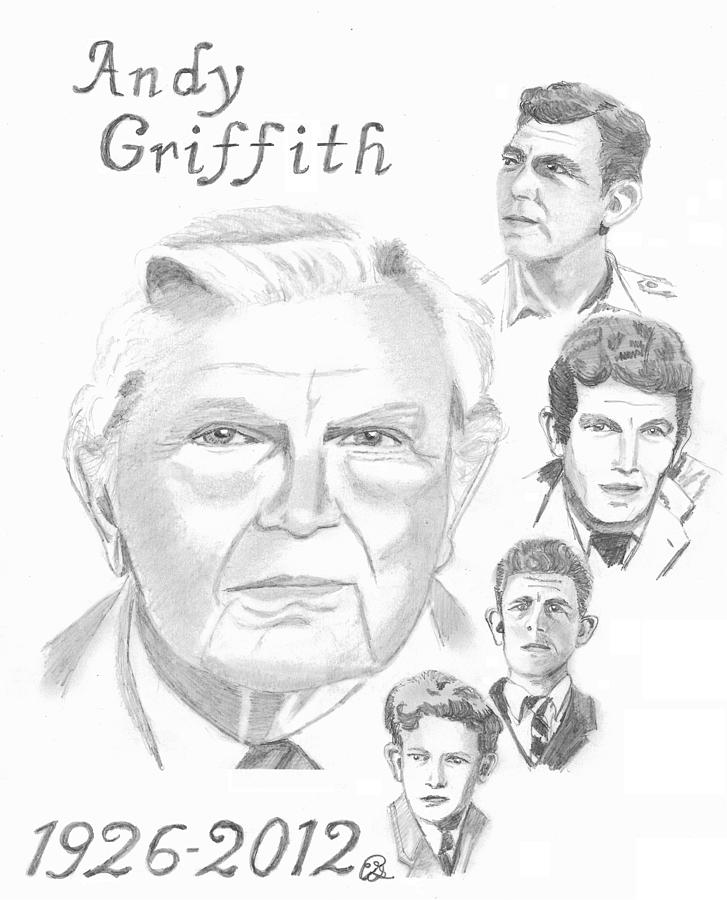 Andy Griffith Drawing - Andy Griffith by Gail Schmiedlin