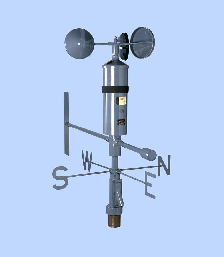 Anemometer And Wind Vane Photograph By Paul Rapson