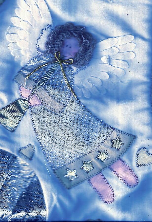 Angel Mixed Media - Angel Blue by Anne-Elizabeth Whiteway