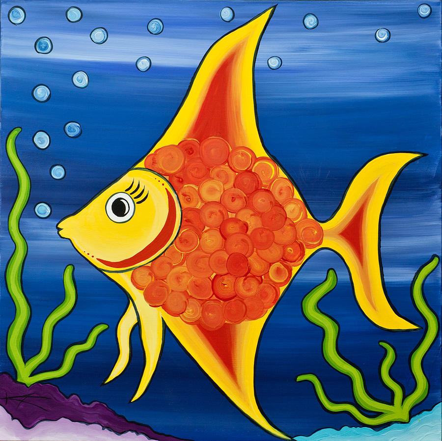 Kids Painted Fish Angel Fish Painting by...