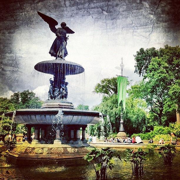 Summer Photograph - Angel Fountain. #centralpark #nyc by Luke Kingma