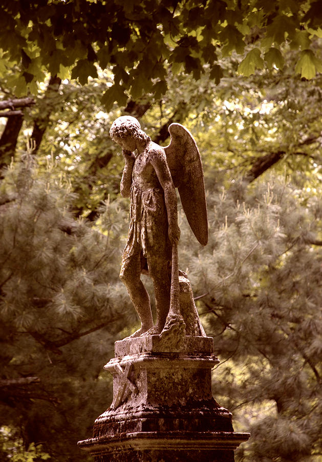 Ancient Photograph - Angel In Tears by Kelly Rader