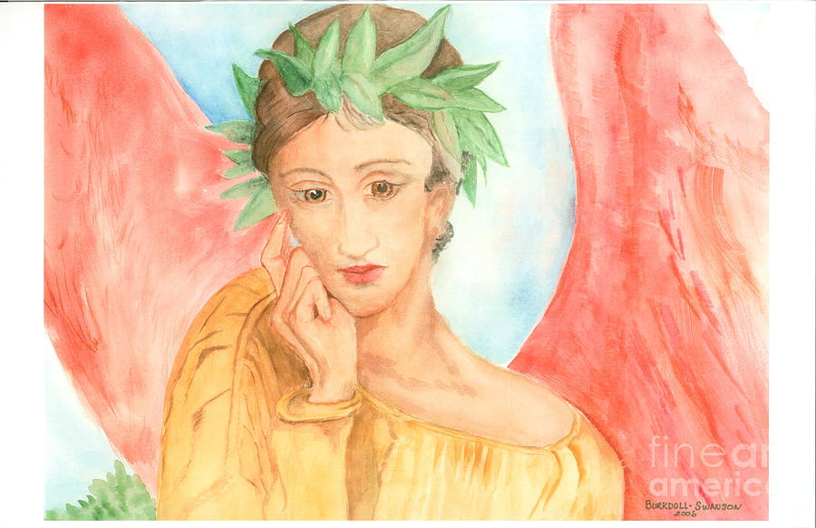 Angel Painting - Angel In Thought by Delores Swanson
