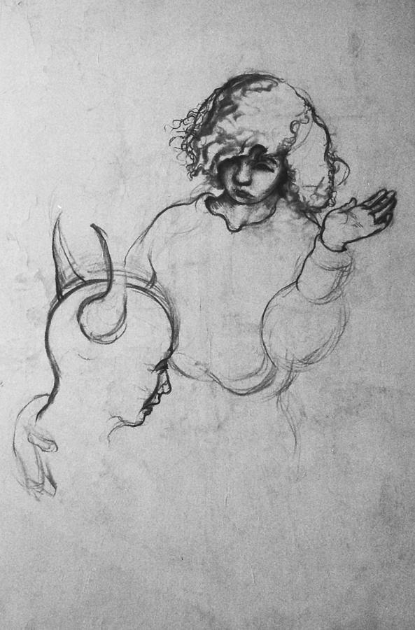 Louis Drawing - Angel by Louis Gleason