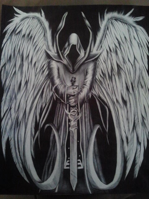 Angel of death drawing angel of death by maritza montnegro