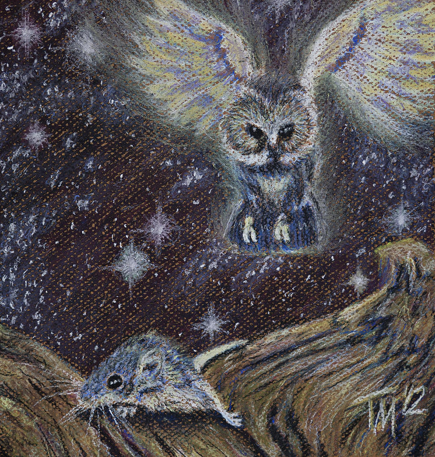 Owl Pastel - Angel Of Death by Thomas Maynard