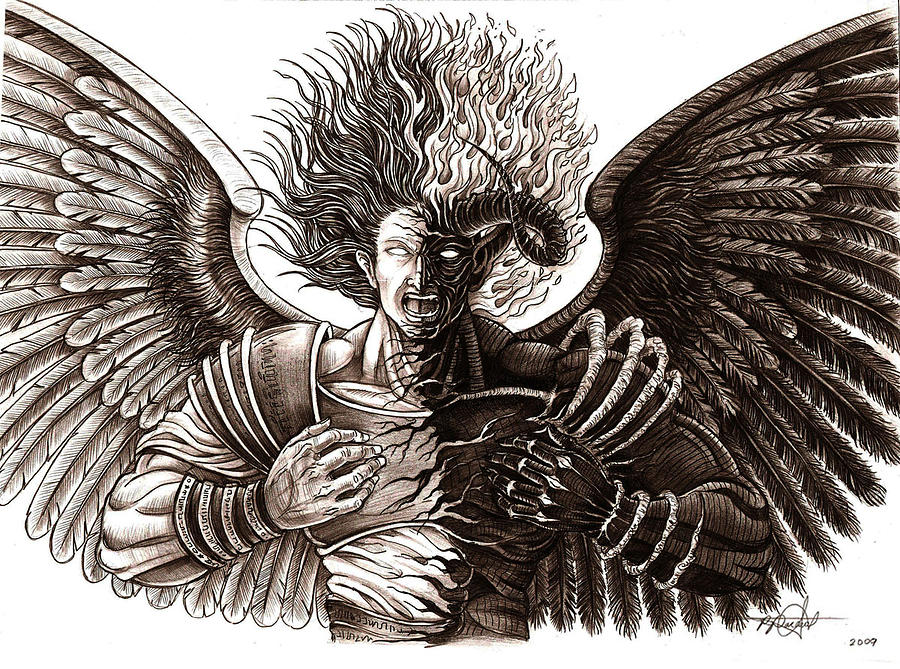 Angel Or Demon Drawing By Rommel Pascual 397 x 576 jpeg 49 кб. angel or demon drawing by rommel pascual