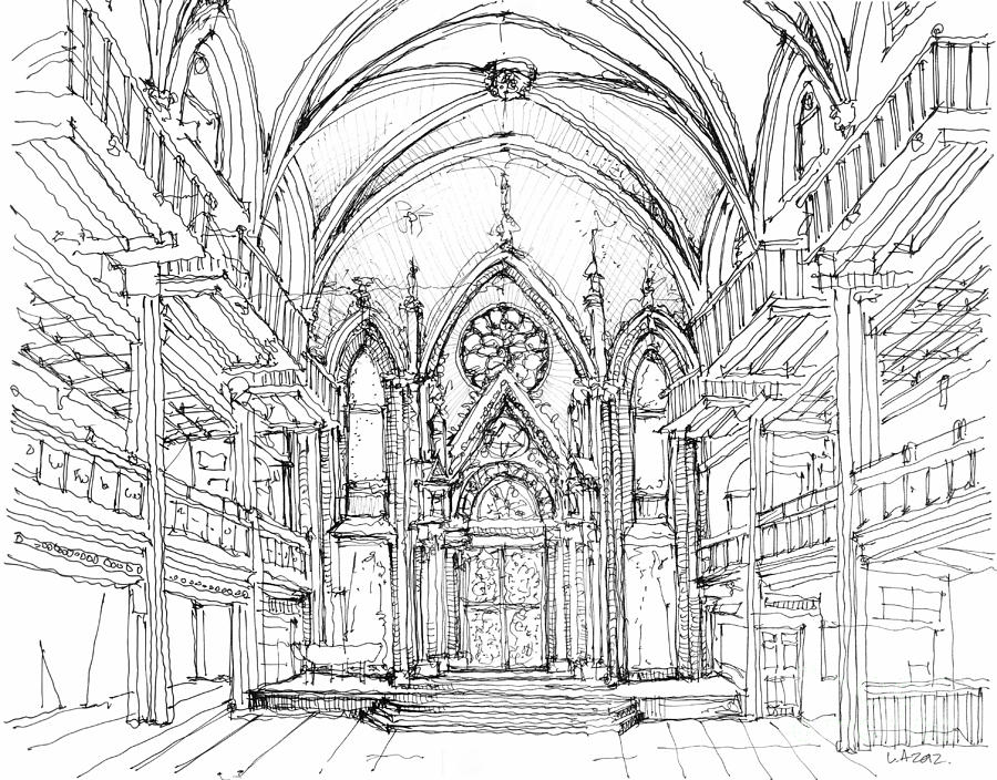 Angel Drawing - Angel Orensanz Sketch 2 by Adendorff Design