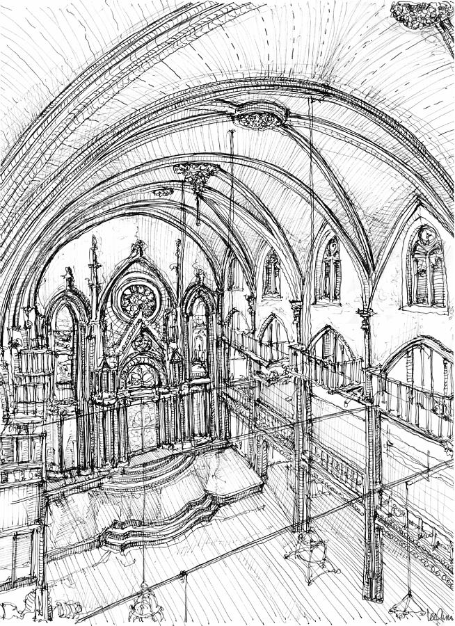 Angel orensanz sketch 3 drawing by building art for Construction drawing apps