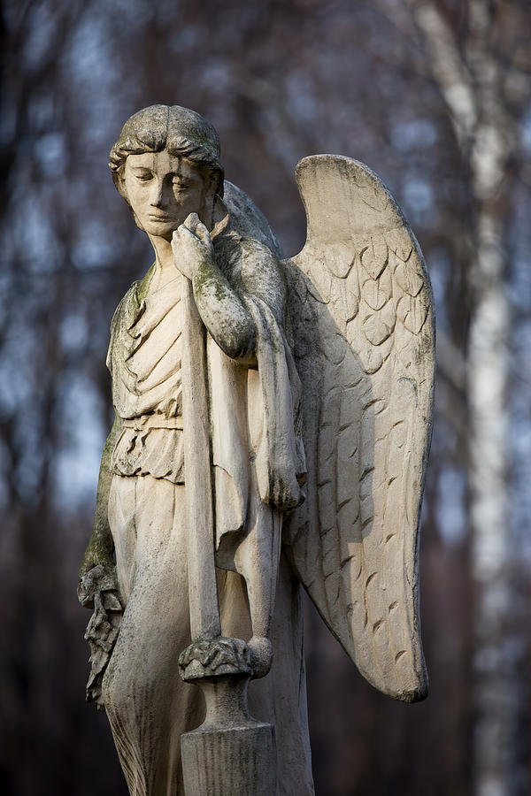 Cemetery Photograph - Angel Statue by Artur Bogacki