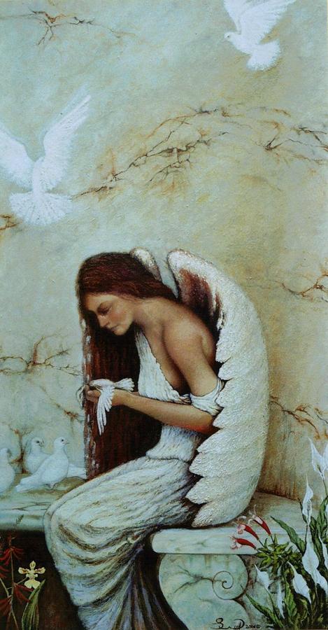 Angel  Painting - Angel by Steven Wood