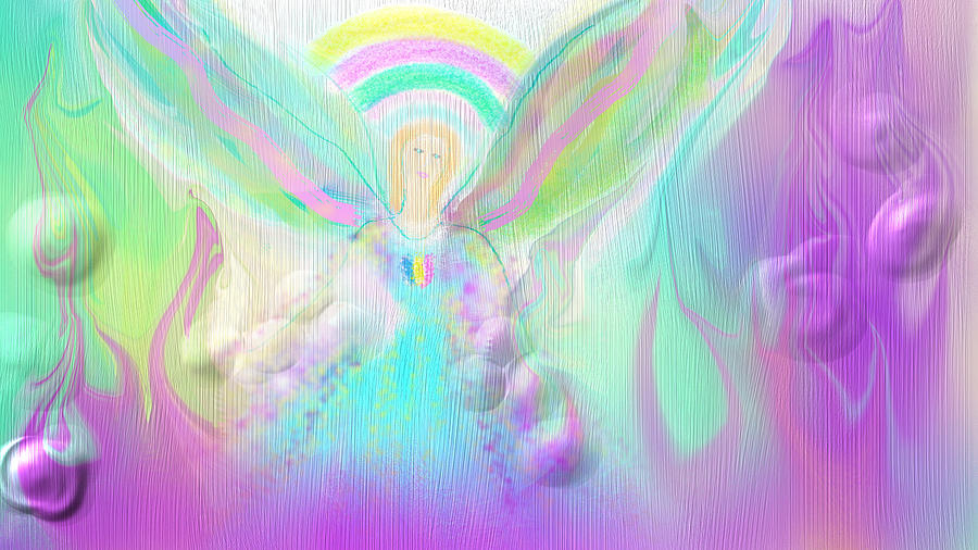 Angel Working Digital Art by Rosana Ortiz