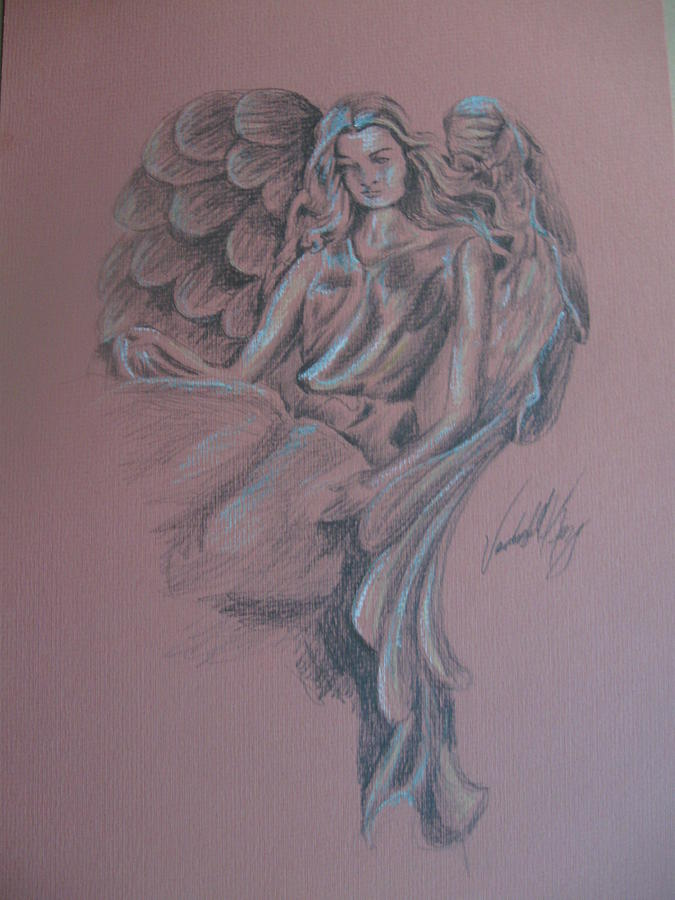 Angelic Drawing - Angelica by Vanderbill King