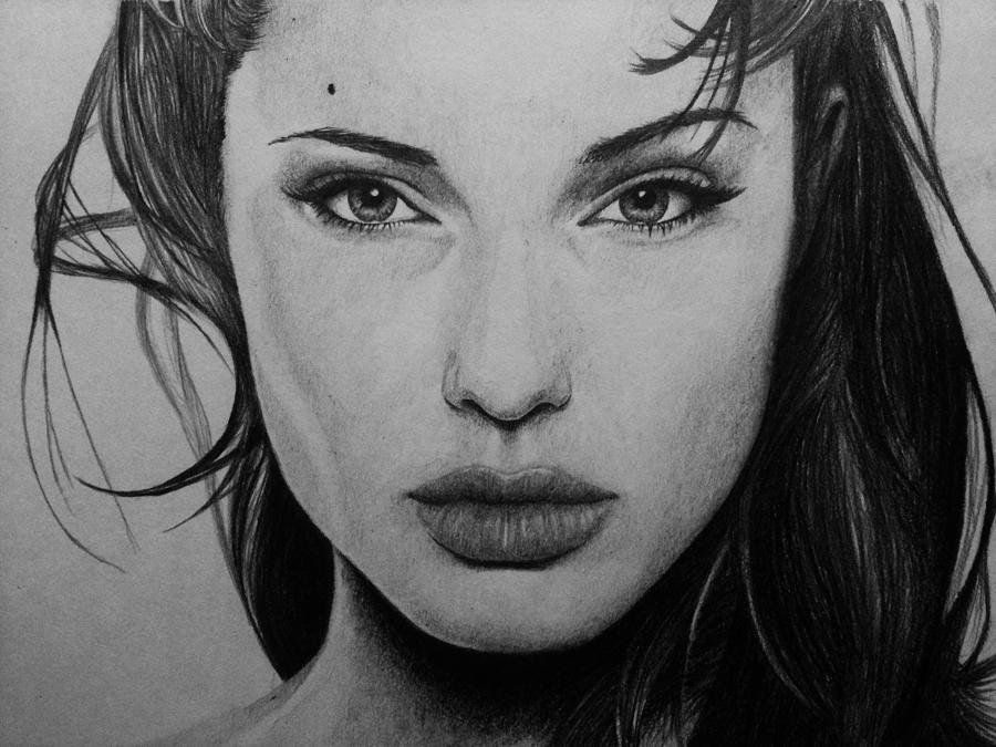 Angelina Jolie Drawing By Carlos Velasquez Art