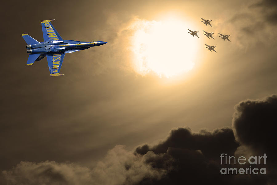Transportation Photograph - Angels In The Sky . Partial Sepia by Wingsdomain Art and Photography