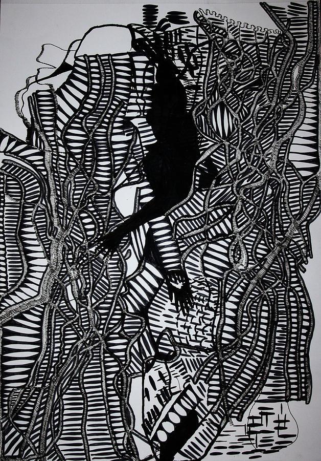 Jesus Drawing - Angels Kiss by Gloria Ssali
