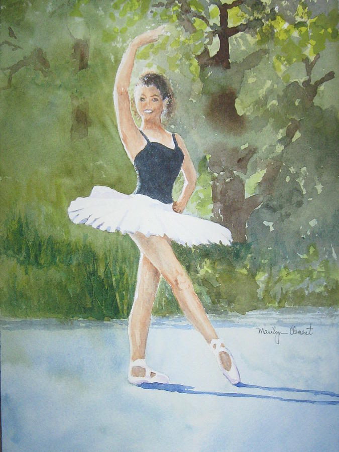 Dancer Painting - Angels Pose by Marilyn  Clement