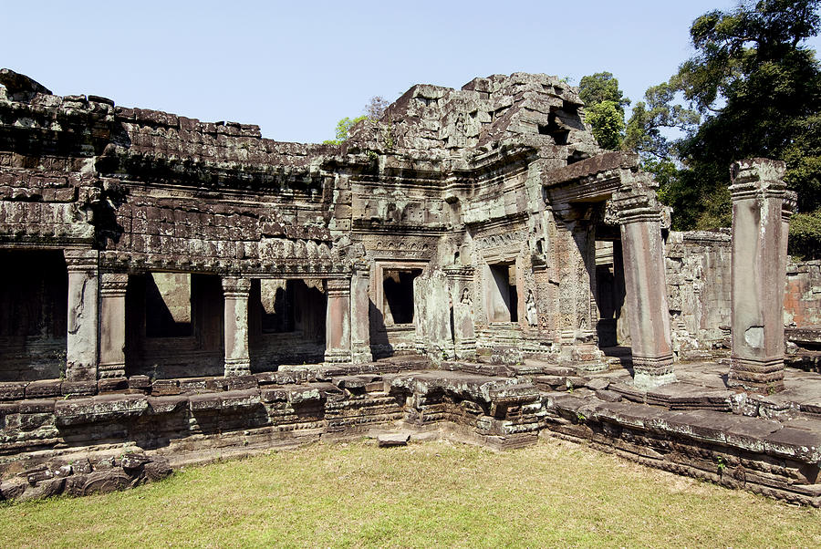 Ancient Photograph - Angkor Archaeological Park by Gloria & Richard Maschmeyer