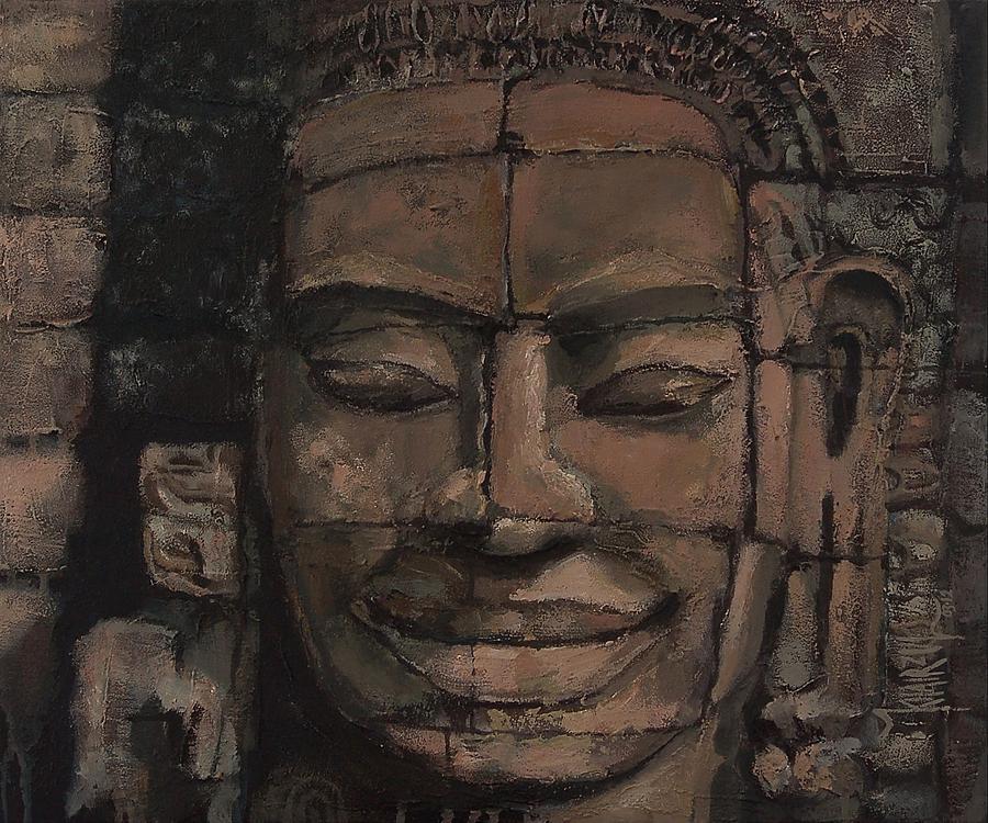 Angkor Painting - Angkor Smile - Angkor Wat Painting by Khairzul MG