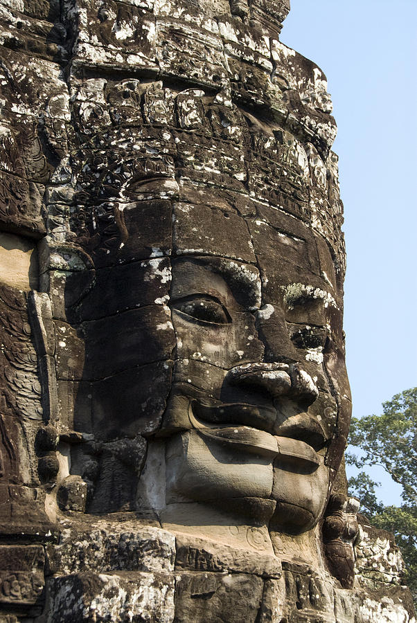 Ancient Photograph - Angkor Thom Fae by Gloria & Richard Maschmeyer