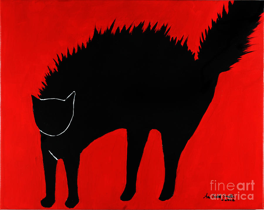 Angry Kitty Painting by Ani Todd Smith