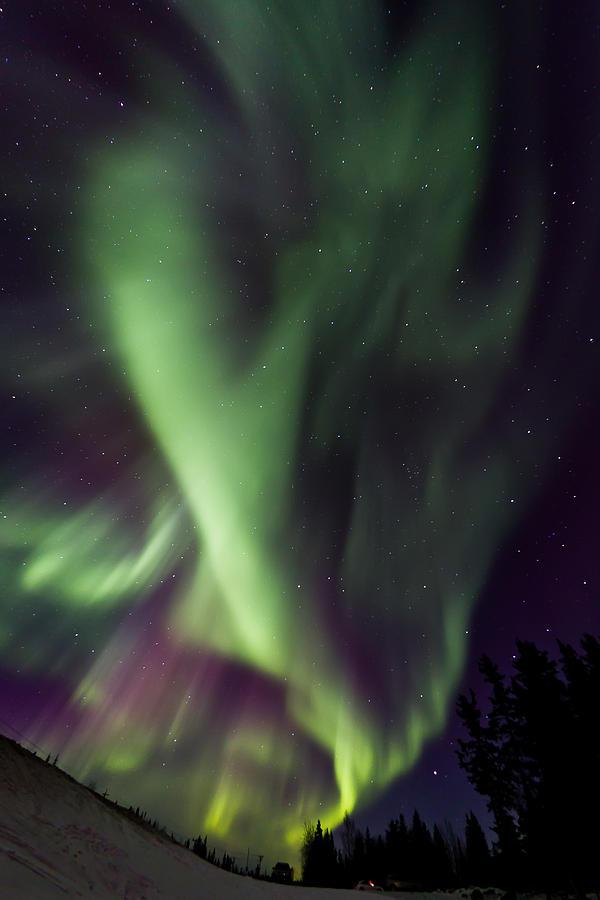 Aurora Borealis Photograph - Anhcor To The World by Maik Tondeur