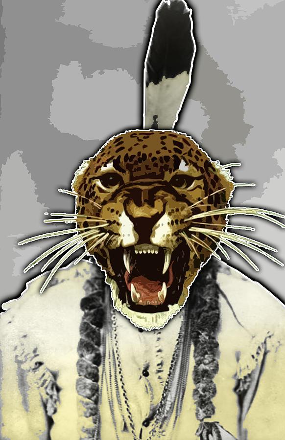 Chief Digital Art - Animal Family 8 Chief Cheeta by Travis Burns