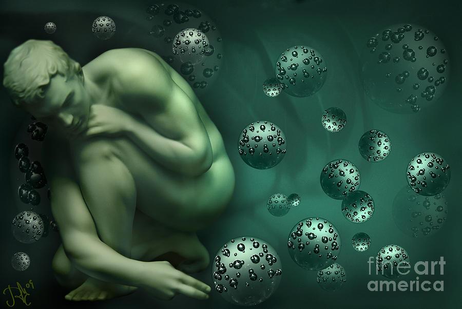 Spheres Digital Art - Animus Breathing Viriditas by Rosa Cobos