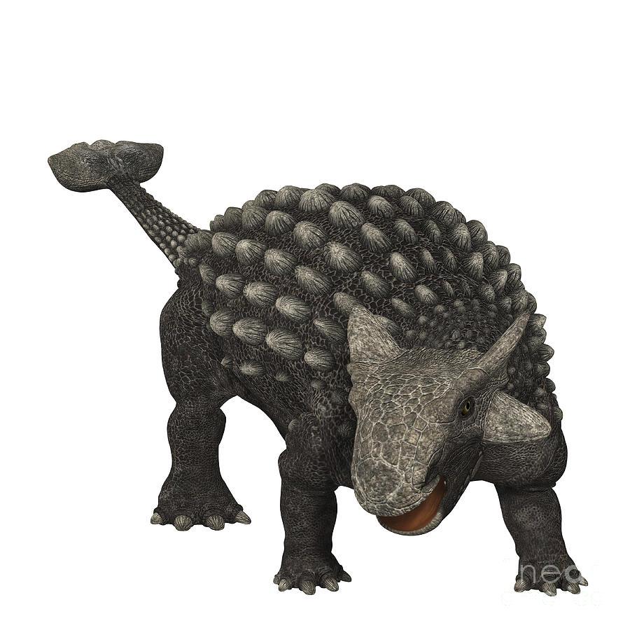 Ankylosaurus Was An Armored Dinosaur Digital Art by Corey Ford