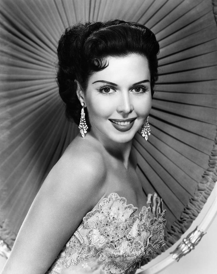 Chandelier Earrings Photograph - Ann Miller, Ca. Late 1940s by Everett