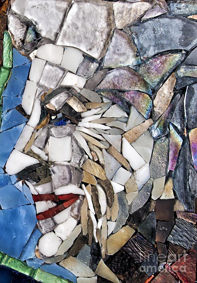 Ann Richards Glass Art - Ann Richards by Mitch Brookman