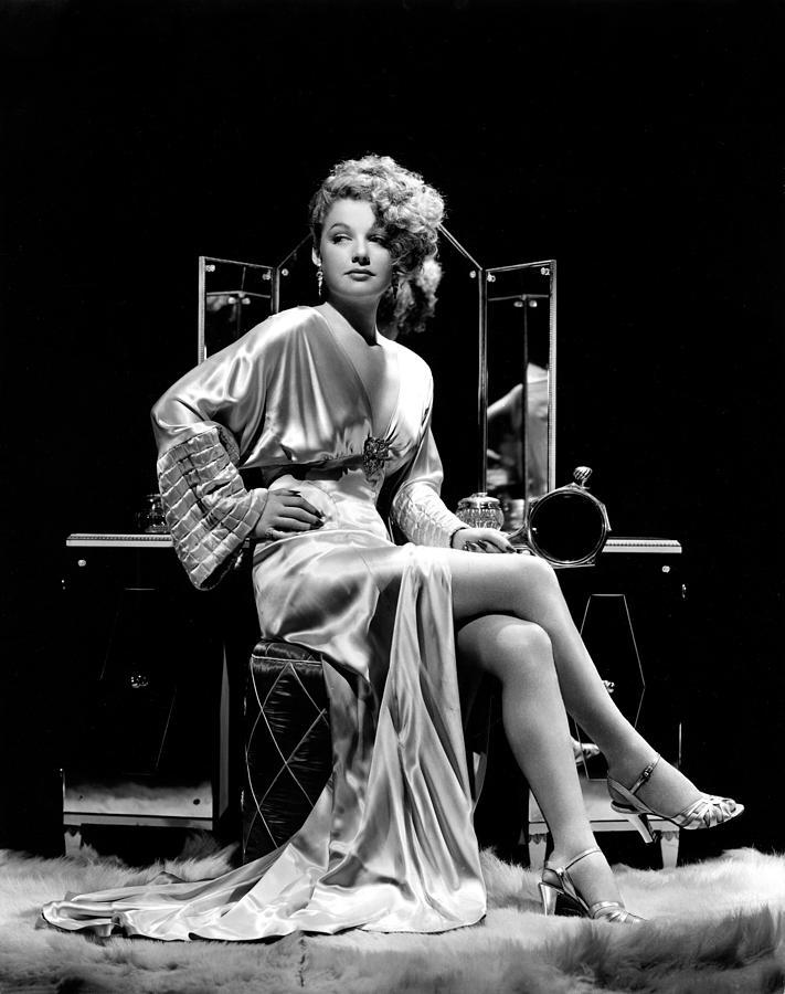 Ann Sheridan At Make-up Table, 1938 Photograph by Everett