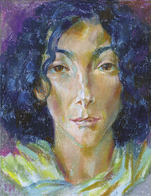 Canvas Painting - Anna Stern by Leonid Petrushin
