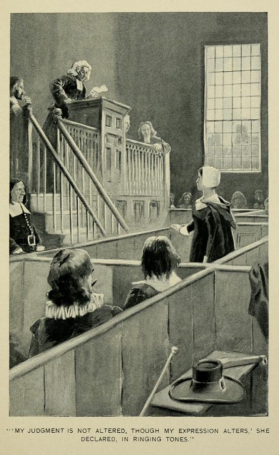 History Photograph - Anne Hutchinson, Charged With Heresy by Everett