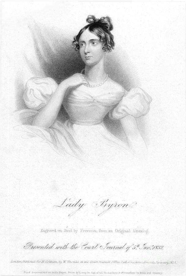 1833 Photograph - Anne Isabella Byron by Granger