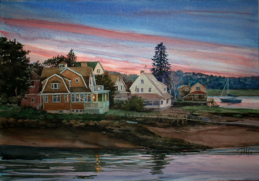 Sunset Painting - Annisquam River by Peter Sit